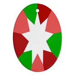 Star Flag Color Ornament (Oval)