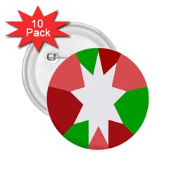 Star Flag Color 2.25  Buttons (10 pack)