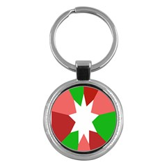 Star Flag Color Key Chains (Round)