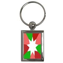 Star Flag Color Key Chains (Rectangle)