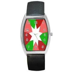 Star Flag Color Barrel Style Metal Watch