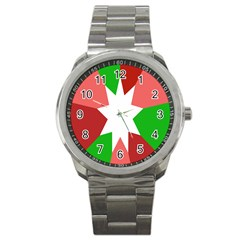 Star Flag Color Sport Metal Watch