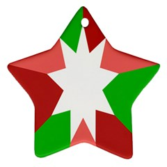 Star Flag Color Star Ornament (Two Sides)
