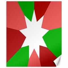 Star Flag Color Canvas 8  x 10