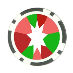 Star Flag Color Poker Chip Card Guard