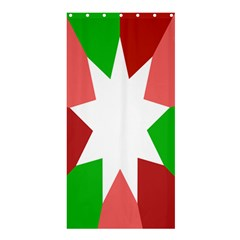 Star Flag Color Shower Curtain 36  x 72  (Stall)