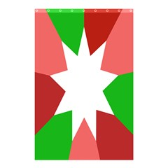 Star Flag Color Shower Curtain 48  x 72  (Small)