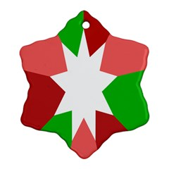 Star Flag Color Snowflake Ornament (Two Sides)