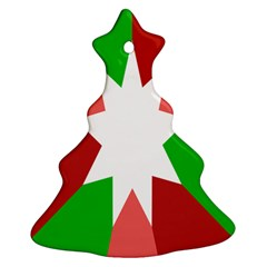Star Flag Color Christmas Tree Ornament (Two Sides)