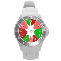 Star Flag Color Round Plastic Sport Watch (L)