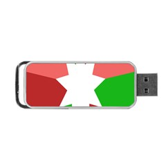 Star Flag Color Portable USB Flash (One Side)