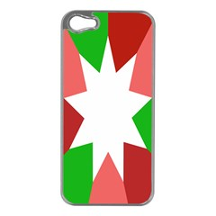 Star Flag Color Apple iPhone 5 Case (Silver)