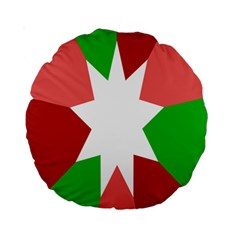 Star Flag Color Standard 15  Premium Round Cushions