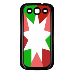Star Flag Color Samsung Galaxy S3 Back Case (Black)