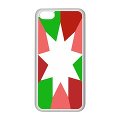 Star Flag Color Apple iPhone 5C Seamless Case (White)