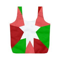Star Flag Color Full Print Recycle Bags (M)