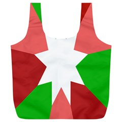 Star Flag Color Full Print Recycle Bags (L)