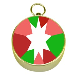 Star Flag Color Gold Compasses
