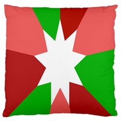 Star Flag Color Large Flano Cushion Case (Two Sides)