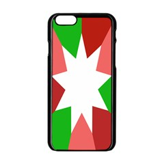 Star Flag Color Apple iPhone 6/6S Black Enamel Case