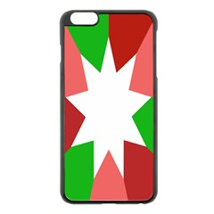Star Flag Color Apple iPhone 6 Plus/6S Plus Black Enamel Case