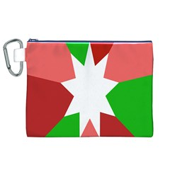 Star Flag Color Canvas Cosmetic Bag (XL)