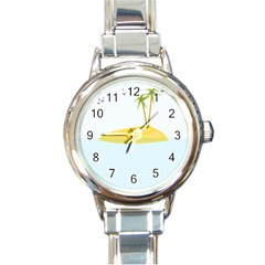 Summer Sea Beach Round Italian Charm Watch