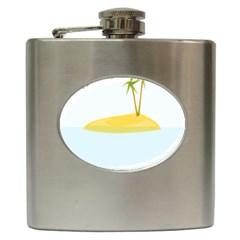 Summer Sea Beach Hip Flask (6 oz)