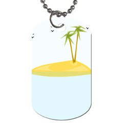 Summer Sea Beach Dog Tag (Two Sides)