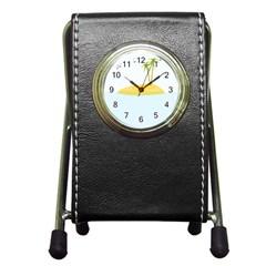 Summer Sea Beach Pen Holder Desk Clocks