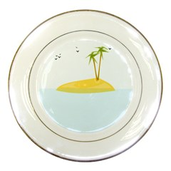 Summer Sea Beach Porcelain Plates