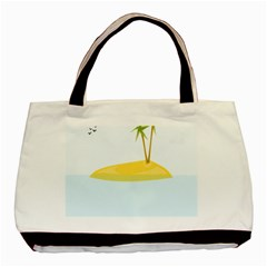 Summer Sea Beach Basic Tote Bag (Two Sides)