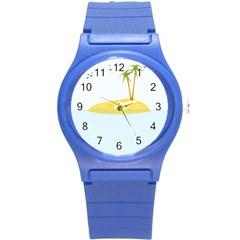 Summer Sea Beach Round Plastic Sport Watch (S)
