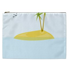 Summer Sea Beach Cosmetic Bag (XXL)