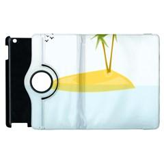 Summer Sea Beach Apple iPad 2 Flip 360 Case