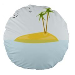 Summer Sea Beach Large 18  Premium Round Cushions