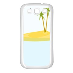 Summer Sea Beach Samsung Galaxy S3 Back Case (White)