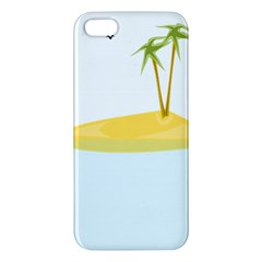 Summer Sea Beach iPhone 5S/ SE Premium Hardshell Case