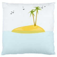 Summer Sea Beach Standard Flano Cushion Case (Two Sides)