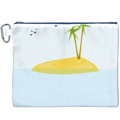 Summer Sea Beach Canvas Cosmetic Bag (XXXL)