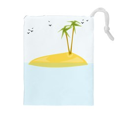 Summer Sea Beach Drawstring Pouches (Extra Large)