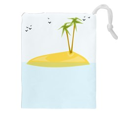 Summer Sea Beach Drawstring Pouches (XXL)