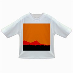 Sunset Orange Simple Minimalis Orange Montain Infant/Toddler T-Shirts