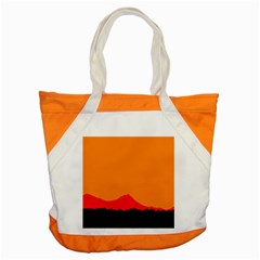 Sunset Orange Simple Minimalis Orange Montain Accent Tote Bag