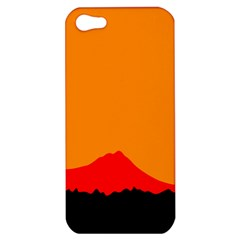 Sunset Orange Simple Minimalis Orange Montain Apple iPhone 5 Hardshell Case