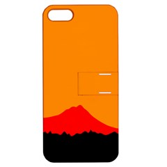 Sunset Orange Simple Minimalis Orange Montain Apple iPhone 5 Hardshell Case with Stand