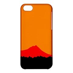 Sunset Orange Simple Minimalis Orange Montain Apple iPhone 5C Hardshell Case