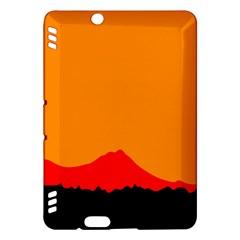 Sunset Orange Simple Minimalis Orange Montain Kindle Fire HDX Hardshell Case