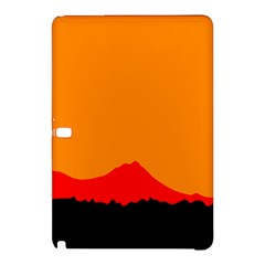 Sunset Orange Simple Minimalis Orange Montain Samsung Galaxy Tab Pro 12.2 Hardshell Case