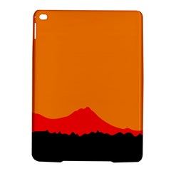 Sunset Orange Simple Minimalis Orange Montain iPad Air 2 Hardshell Cases